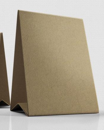 Mockup PSD Table Tent - Cartão