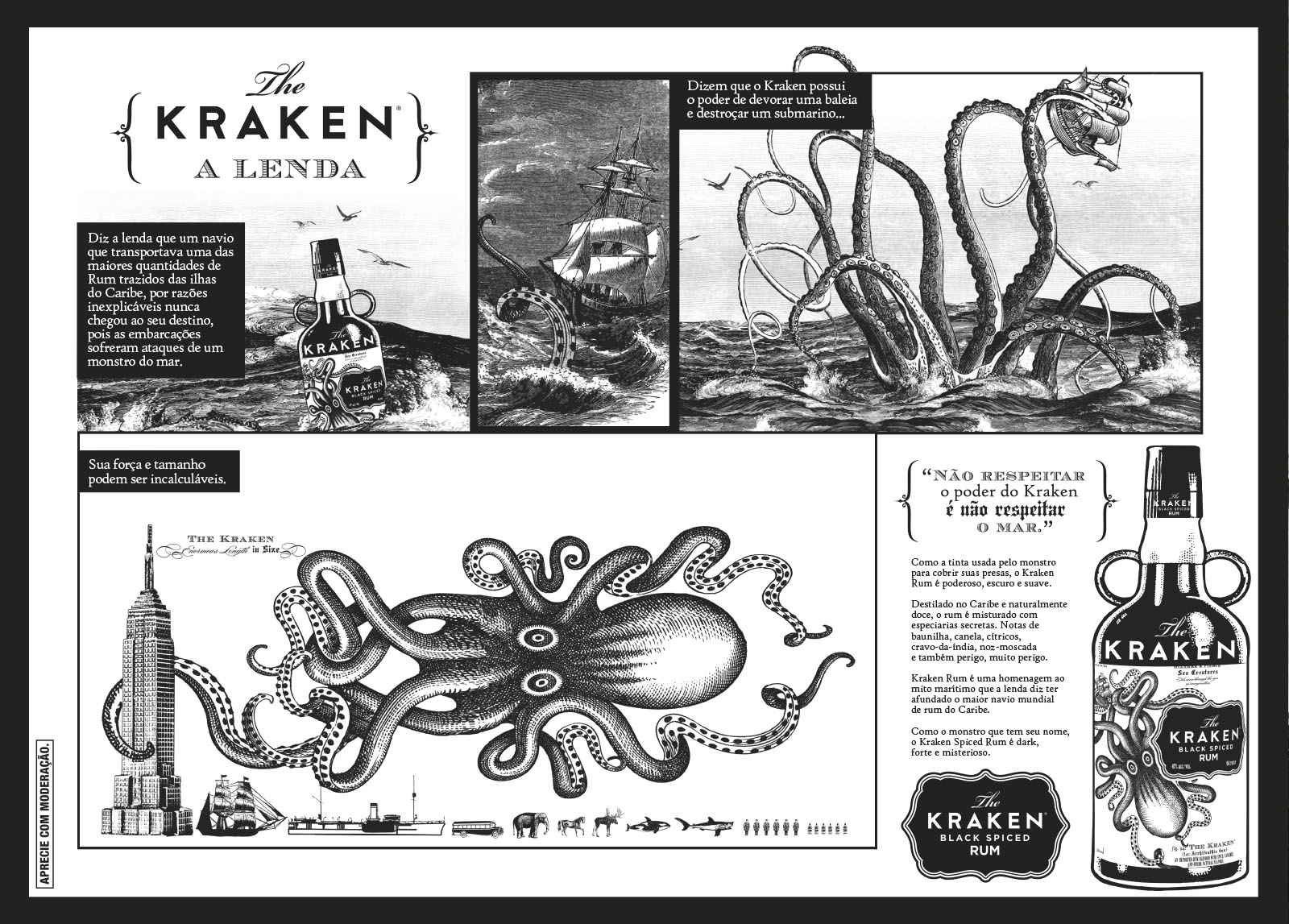 Detalhe Jogo Americano Kraken